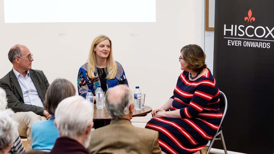 L to r: Toby Faber, Claire McGlasson & interviewer Alex Clark