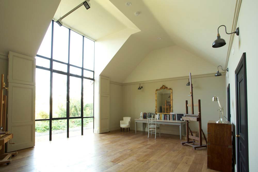 Interior view of the new stusio