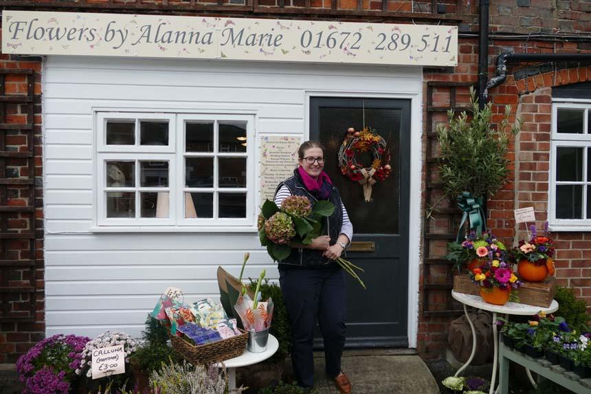 Alanna Wheeler outside her shop in Wagon Yard
