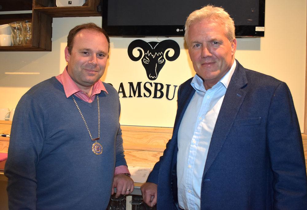 Marlborough RFC Chairman Gary Sharp with Deputy Mayor, Mark Cooper