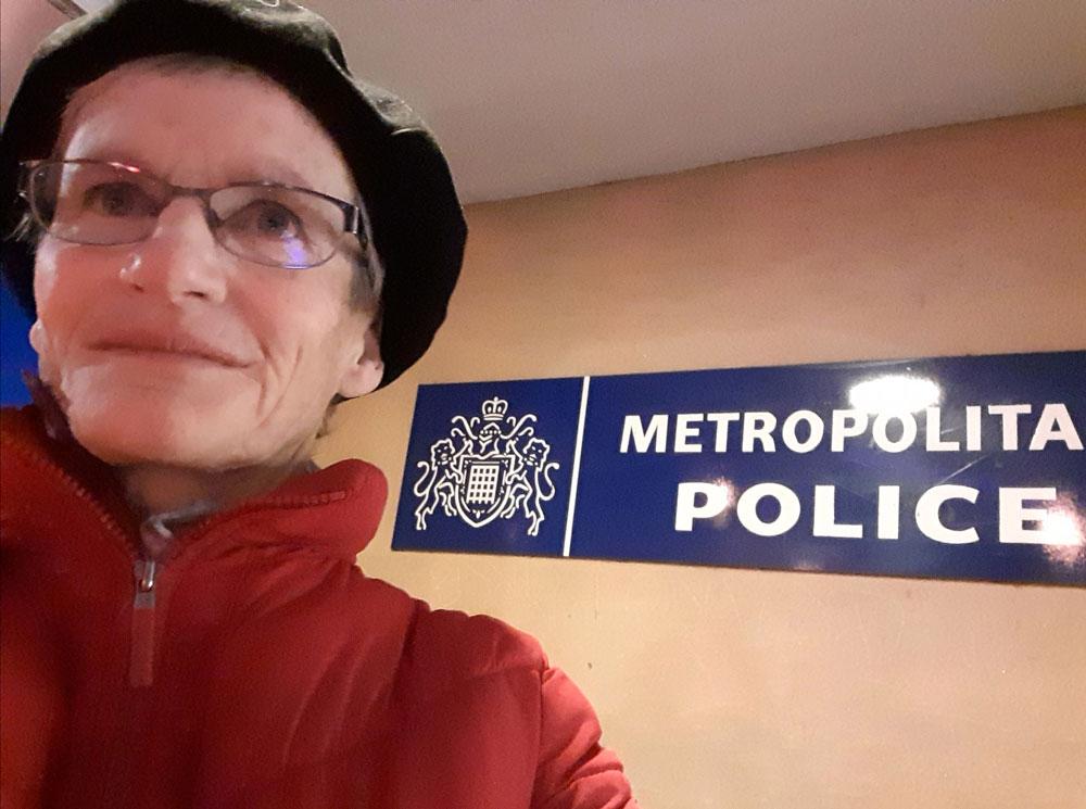Jo Ripley at Brixton Police Station