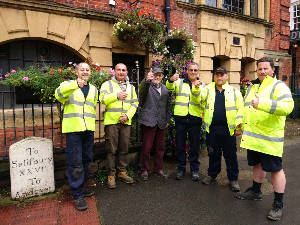 MiB President Steve Pascall with members of the Town Council's Grounds Team