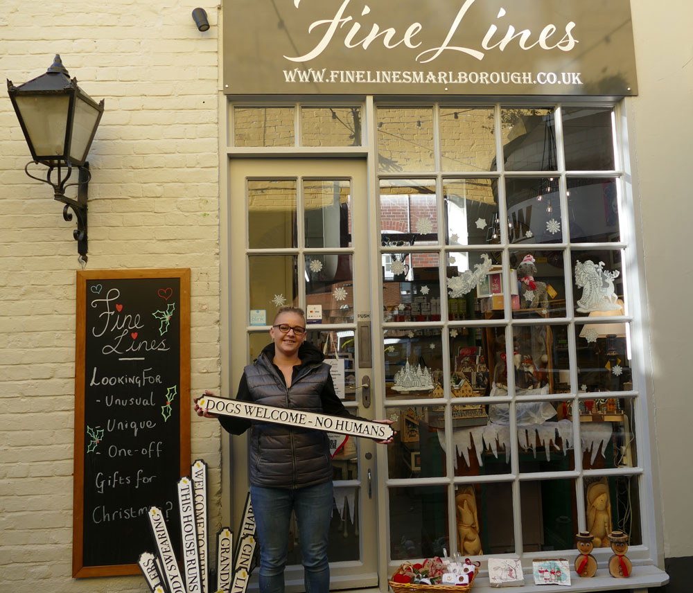 Amanda Bauch outside the new 'Fine Lines' in Hughenden Yard