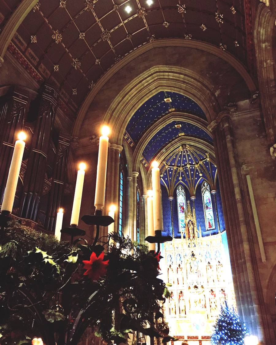 Carols by candlelight in Marlborough College Chapel