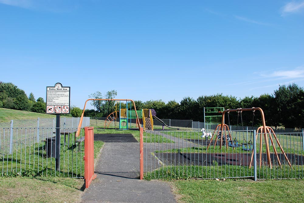 The old play area
