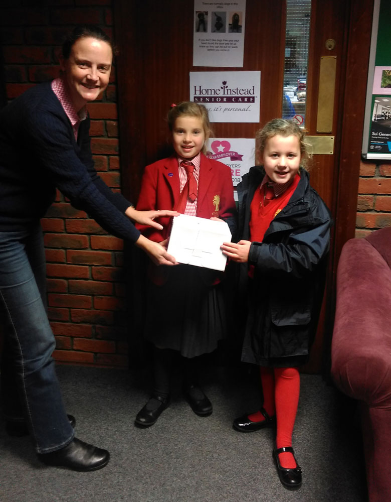 St Francis pupils with Nell Light from Home Instead