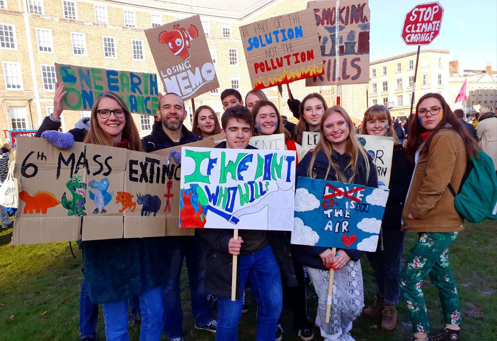 St John's students and teachers in Bristol
