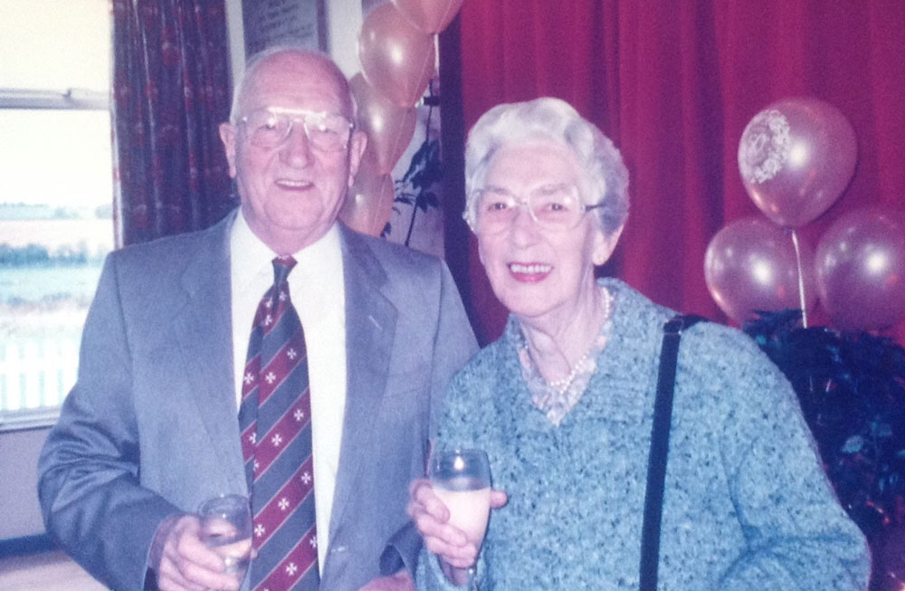 George Johnson with wife Nan at their 60th Wedding Anniversary party