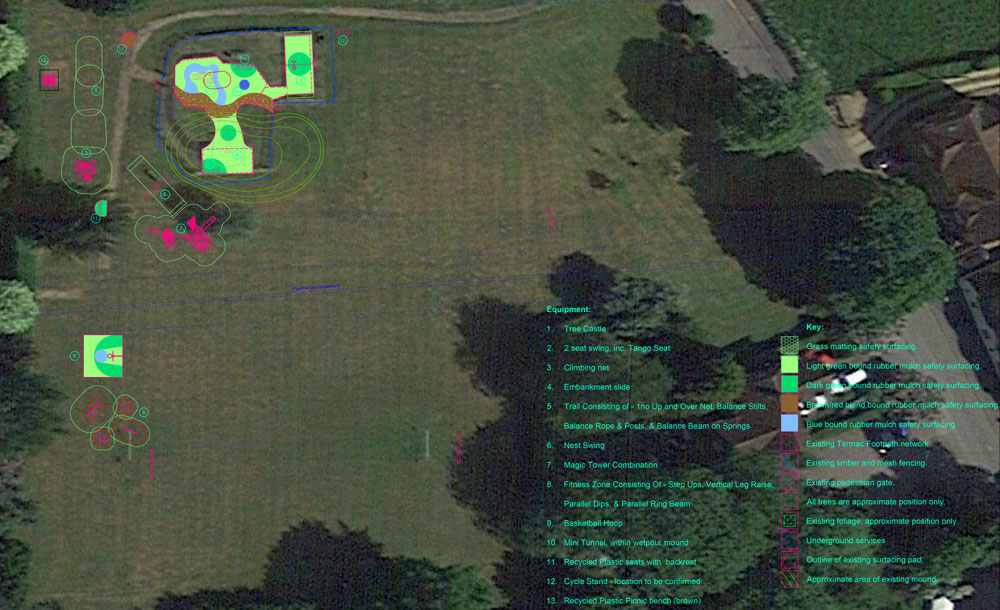 Layout of the soon-to-be revamped Play Area in Manton's Jubilee Field