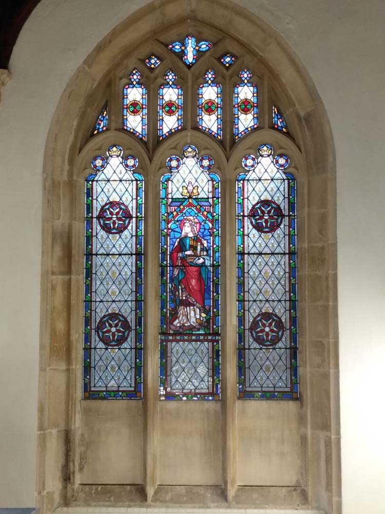 Sparkling stone work after the cleaning process along St Peter's North Aisle