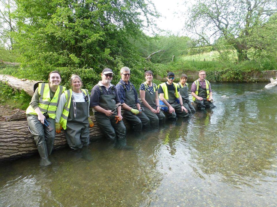 The Stonebridge team take a brief break from their conservation work