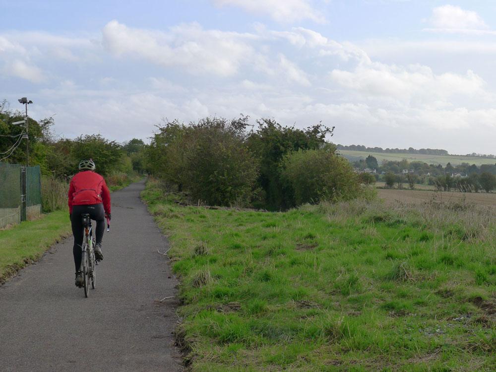 The new surface on the Marlborough to Swindon Railway Path