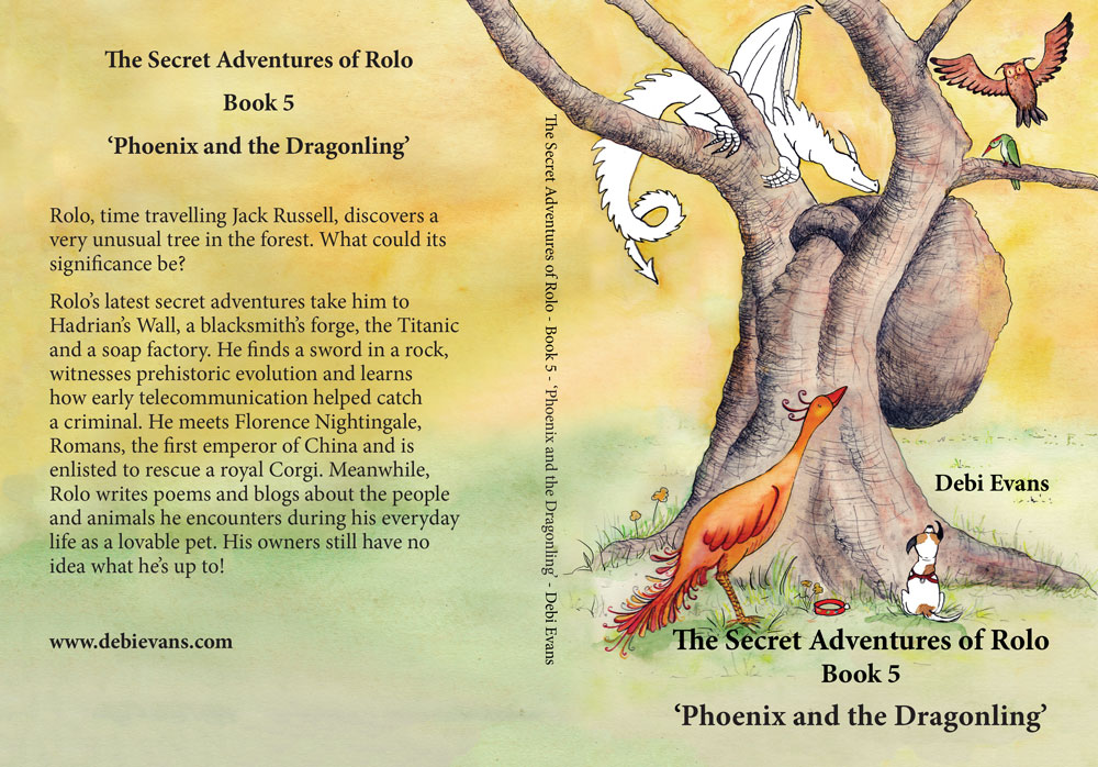 Cover of 'The Secret Adventures of Rolo – Phoenix and the Dragonling'