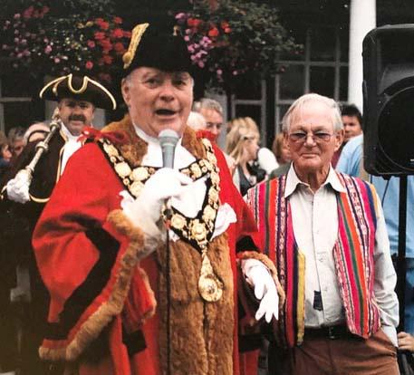 Jazz Festival:  Brian Ashley with Town Mayor Nicholas Fogg