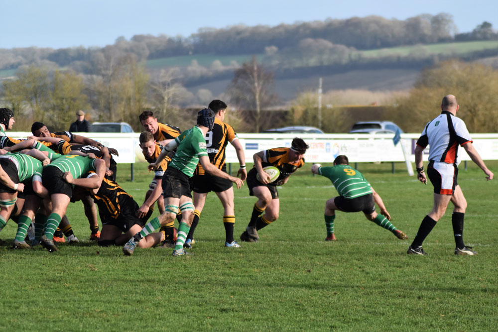 James Farrell with the ball