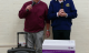 Mayor Mervyn Hall and Martin Luxford, President of Marlborough and District Rotary Club test out the new sound system