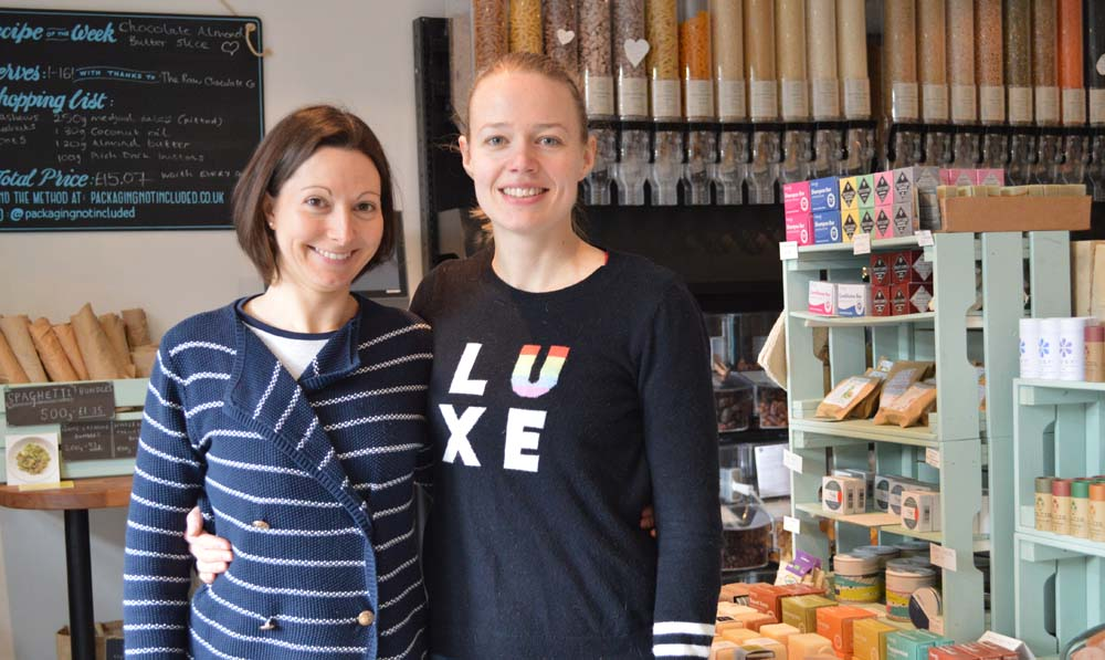 'Packaging Not Included' founder Hayley Lambert & assistant Katharine Graham