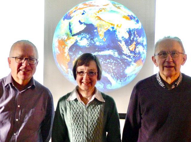 l to r - U3A Climate Change Panel:  Randal Richards, Jill Turner and Graham Barnes