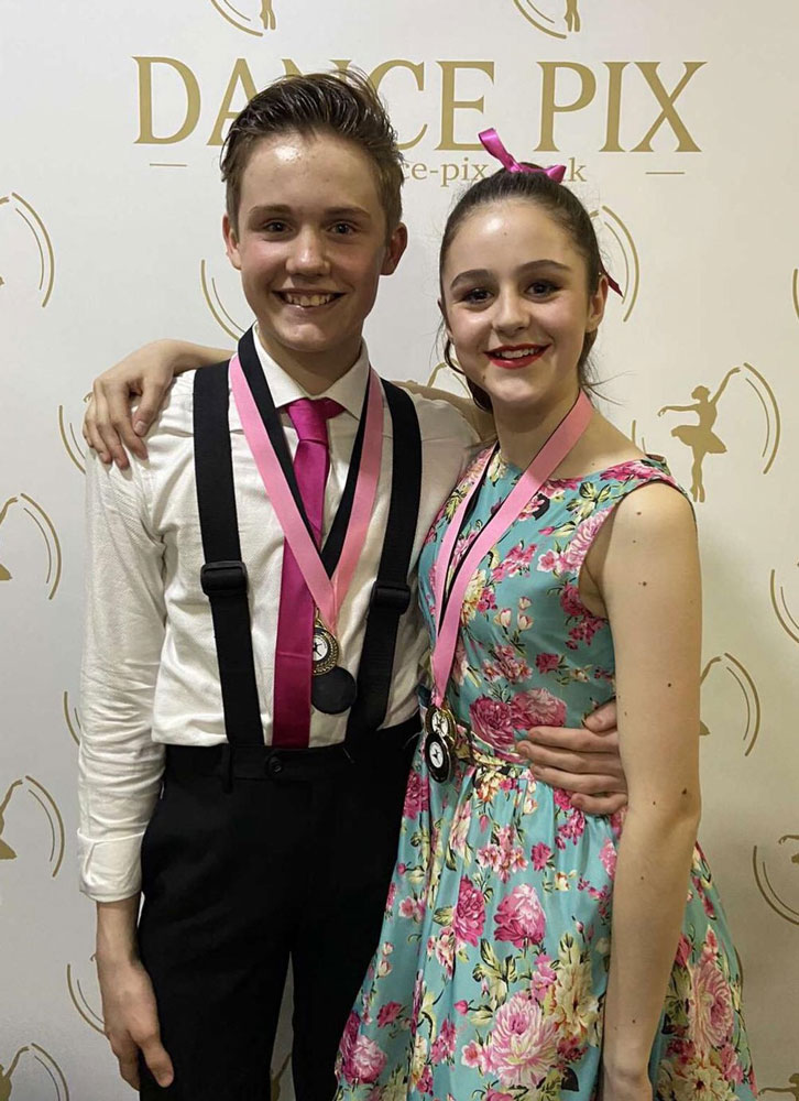 Alex Piper 14 with his partner Kira Jackson 15 who were awarded first place