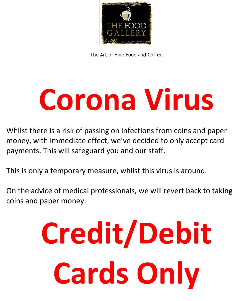 The flyer that Bob sent round regarding Coronavirus