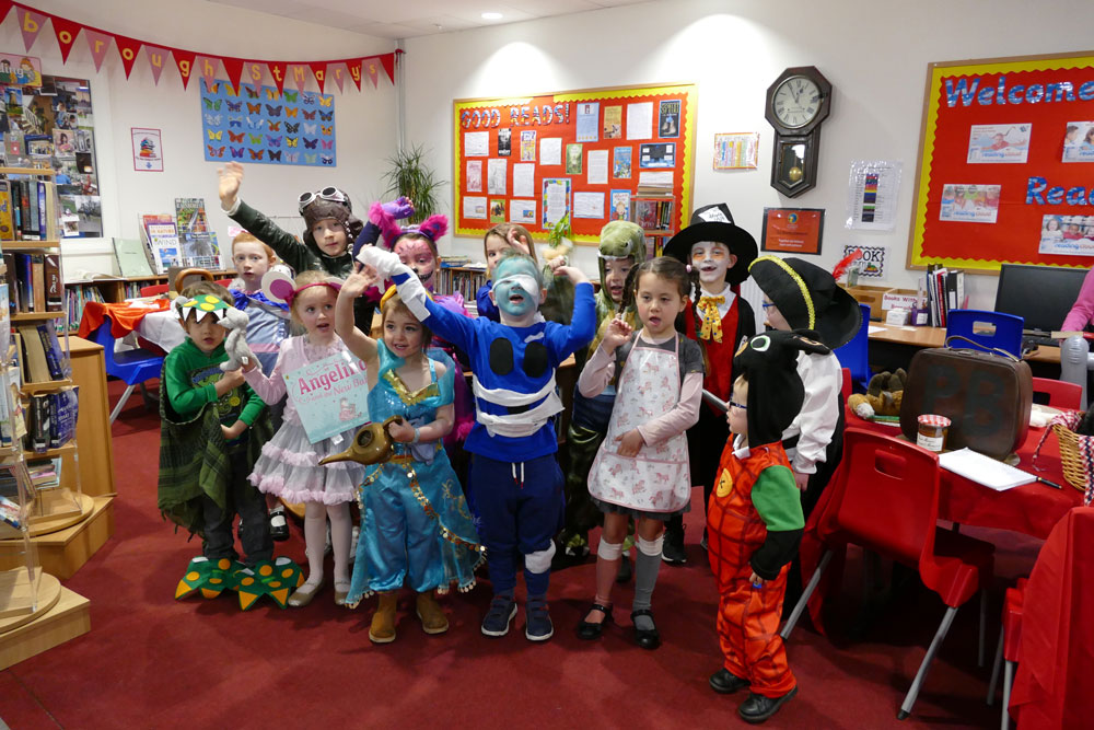 Key Stage 1 pupils at Marlborough St Mary's celebrate World Book Day