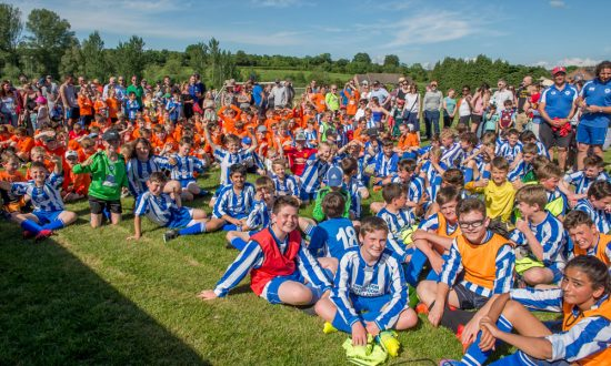 A big club - Marlborough (and Ramsbury) players, parents and coaches at a recent RANMAR tournament held at the Marlborough Town FC ground in Elcot Lane