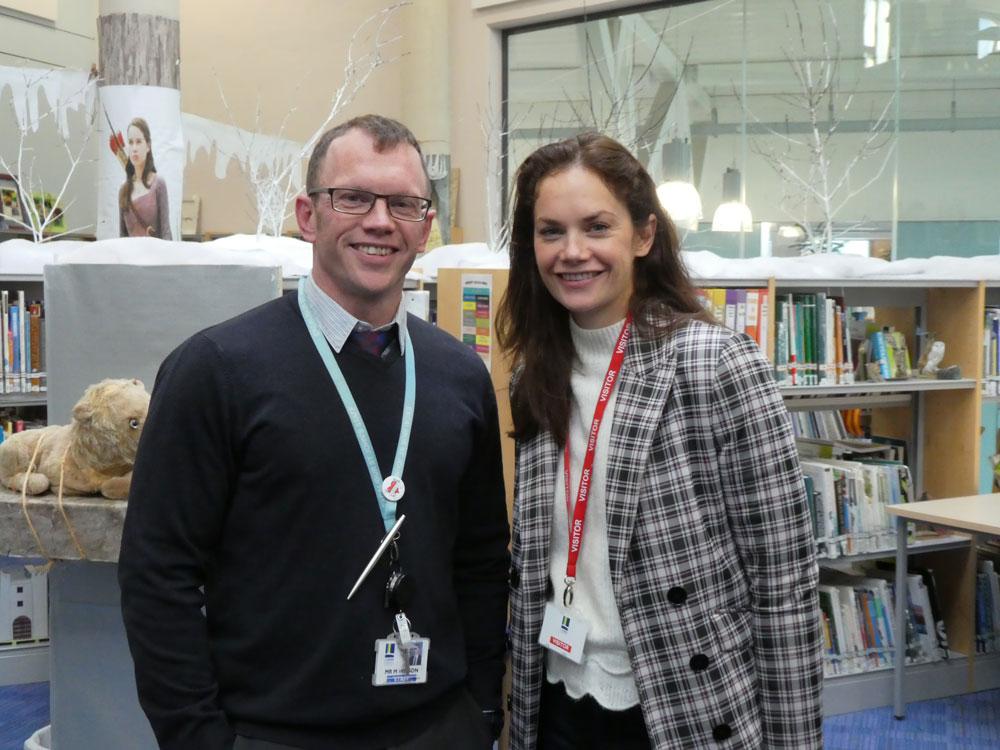 Matt Wilson, St John's English teacher with his sister Ruth Wilson