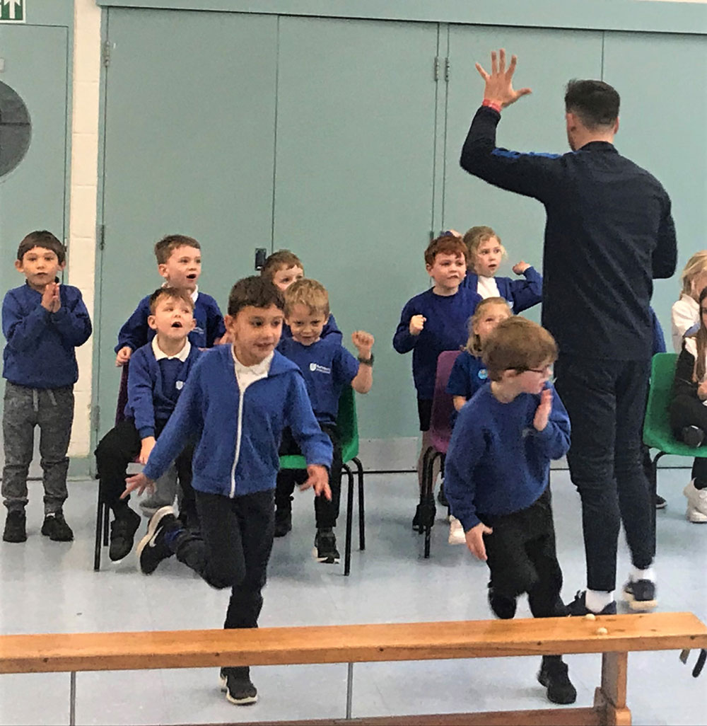Paralympian Jack Rutter puts Ramsbury pupils through their paces