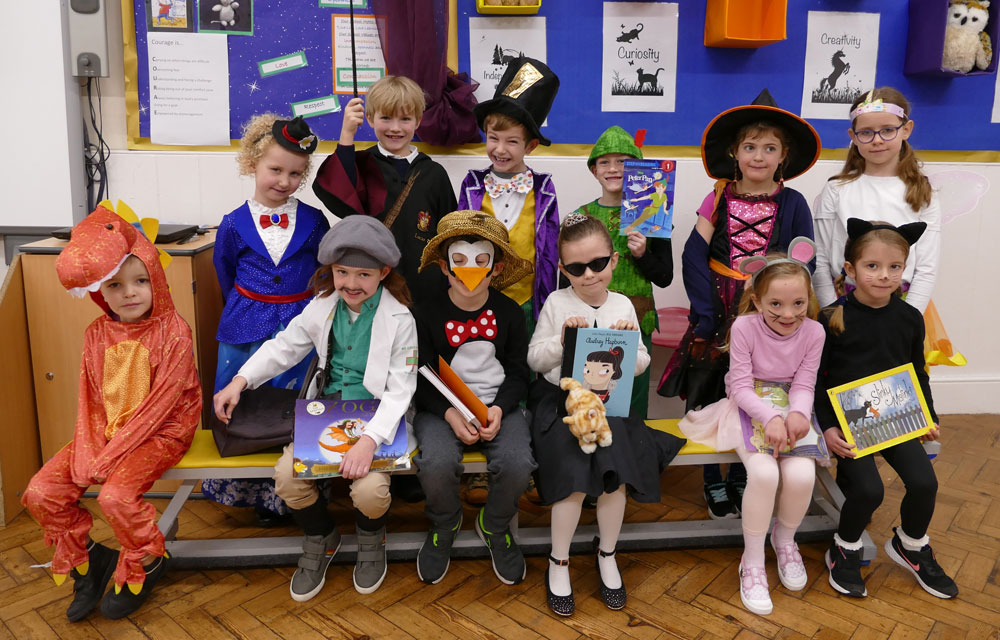 Preshute Key Stage 1 pupils celebrate World Book Day