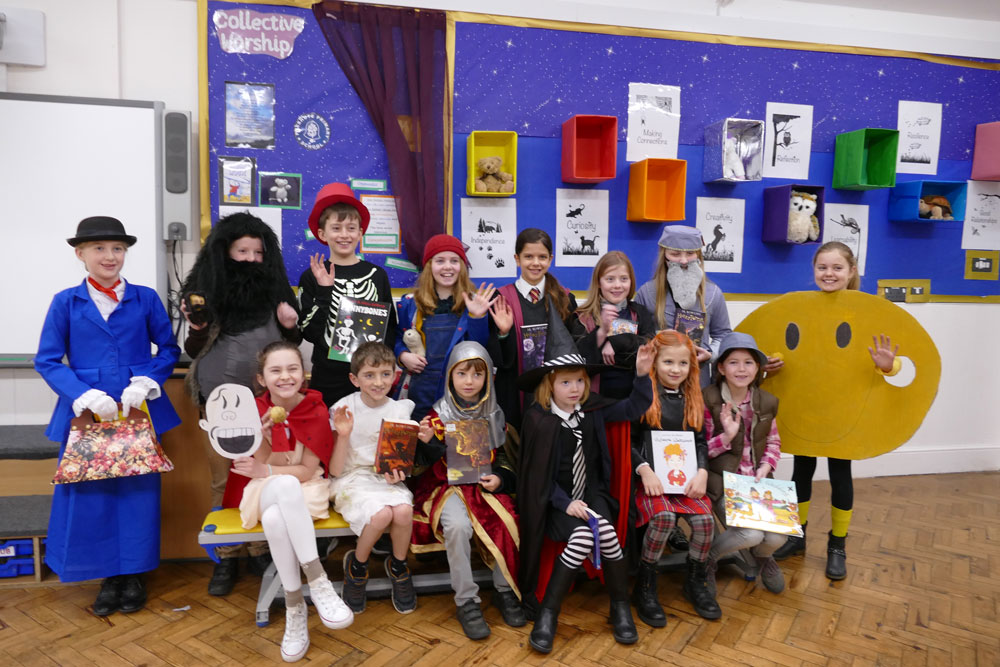 Preshute Key Stage 2 pupils celebrate World Book Day