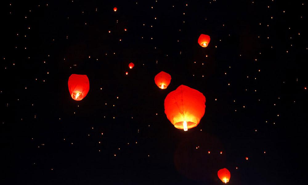 Chinese Sky Lanterns - beautiful but potentially dangerous