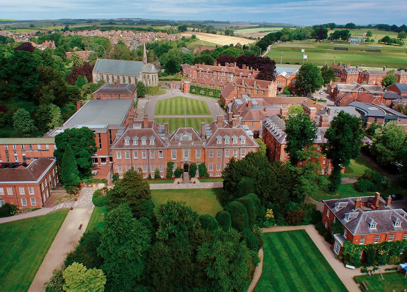 Aerial shot of College