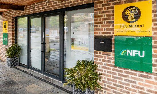 Marlborough's NFU Office adjacent to the Waitrose car park