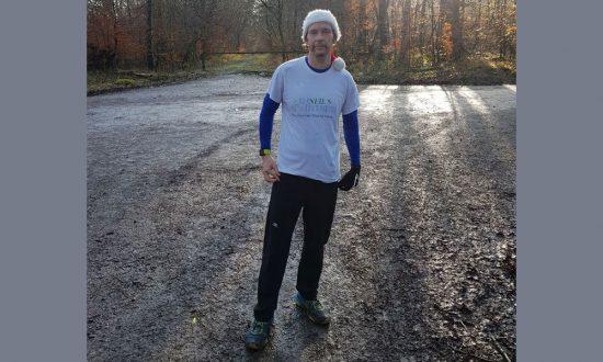 Neil Wheeler - 107 miles around back garden to raise funds for the Friends of Savernake Hospital