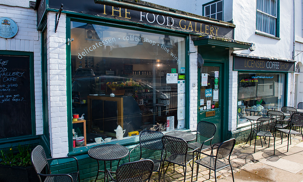 The Food Gallery in Marlborough High Street, re-opening for take-away orders
