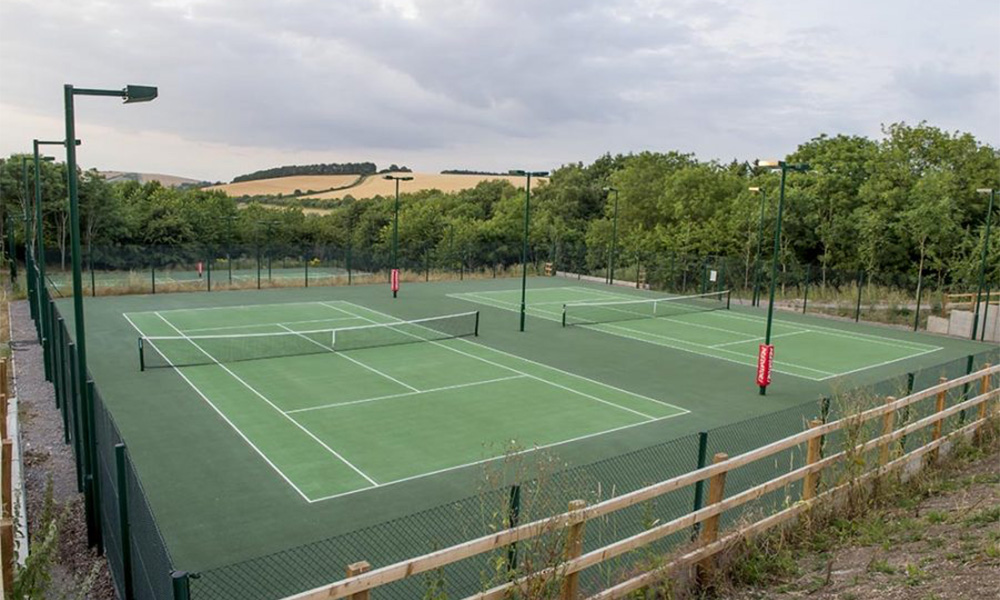 Marlborough Tennis' new courts at Port Hill - open to the public for the first time on Sunday (22 July 2019)