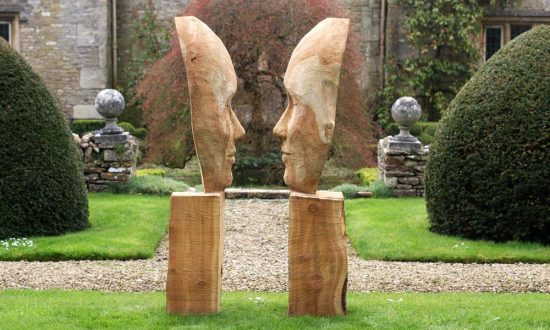 Sculpture at the 'Friends of the Garden' exhibition at Urchfont Manor two years ago