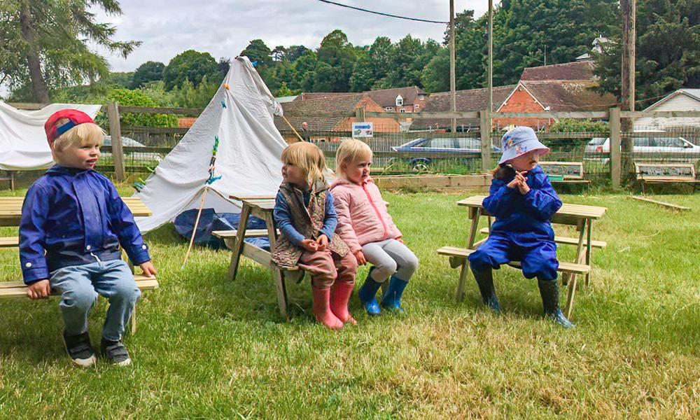 Getting ready to camp marlborough montessori nursery