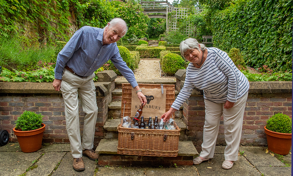 David and Alison Hammond surveying their win in the prize draw merchants house open gardens 2020