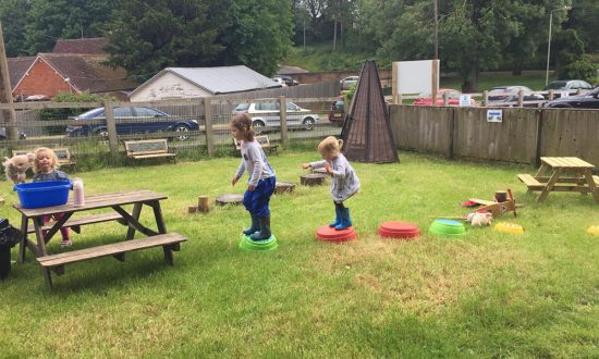 Marlborough outdoor activities at College Fields Montessori Nursery