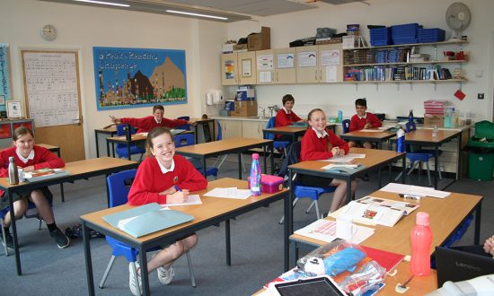 Smiles all round - Marlborough St Mary's Year 6 pupils are back at school