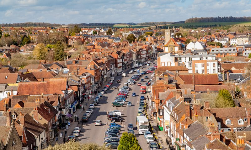 Marlborough High Street from St Peters Church