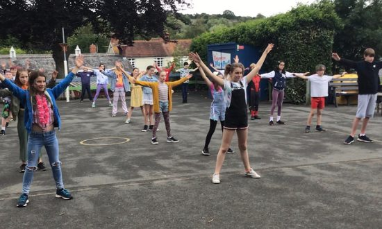 Preshute C of E Primary School Year 6 warm-up for a day of activities