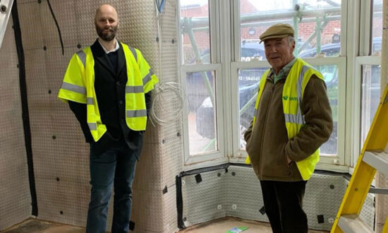 Progress at the new Parade Cinema - Image Cinema chairman - Robert Hiscox (r) and newly appointed Cinema Manager David Williams (l)