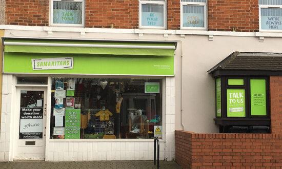 Samaritans shop in Curtis St, Swindon