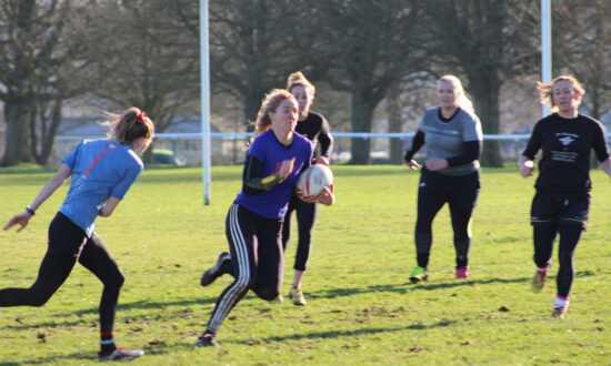 Marlborough Compeed Nomads 7s Women's team training on The Common