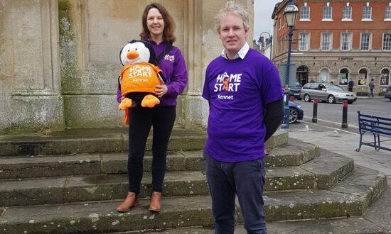 Devizes MP Danny Kruger with Joanne Kent of Home-Start Kennet