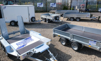 John Day Engineering yard showing some of the Ifor Williams range of trailers stocked there