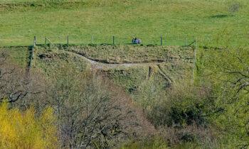 Marlborough's Green Weed White Horse on Granham Hill in need of maintenance