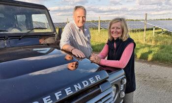 New LibDem Candidate for Wiltshire & Swindon PCC, Cllr Dr Brian Matthew, with former candidate Liz Webster